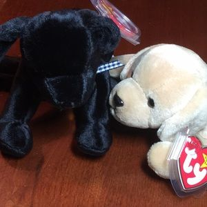 Beanie Baby labs Luke & Fetch need a home